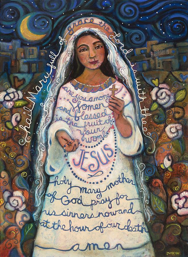 Jen Norton Painting - Hail Mary by Jen Norton