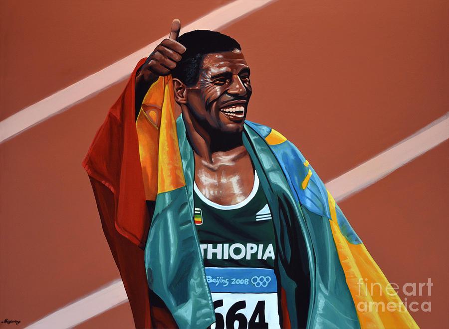 Haile Gebrselassie Painting