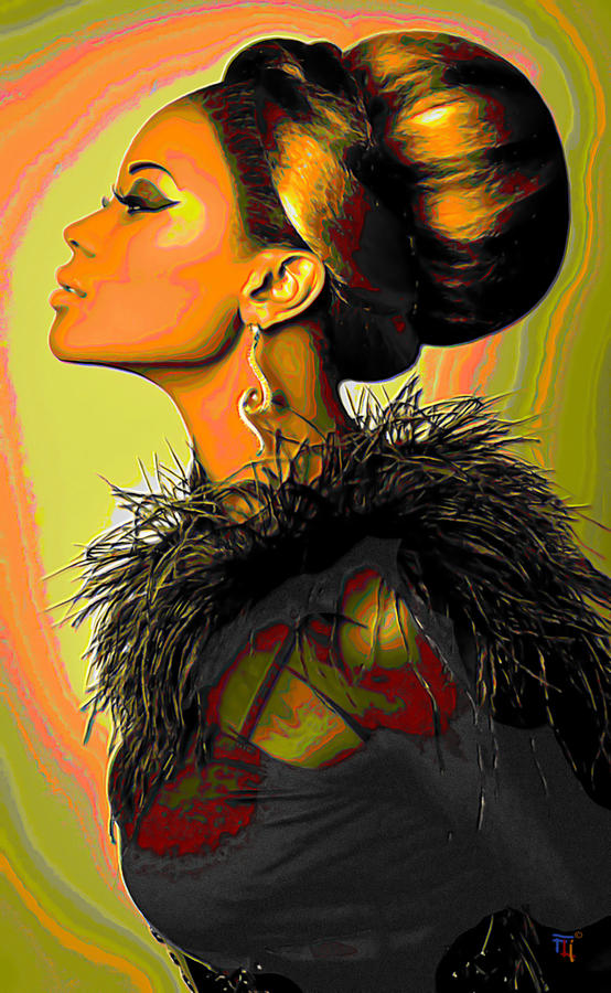 Hair Bun Painting  - Hair Bun Fine Art Print