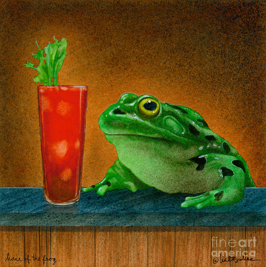 Hair Of The Frog... Painting  - Hair Of The Frog... Fine Art Print