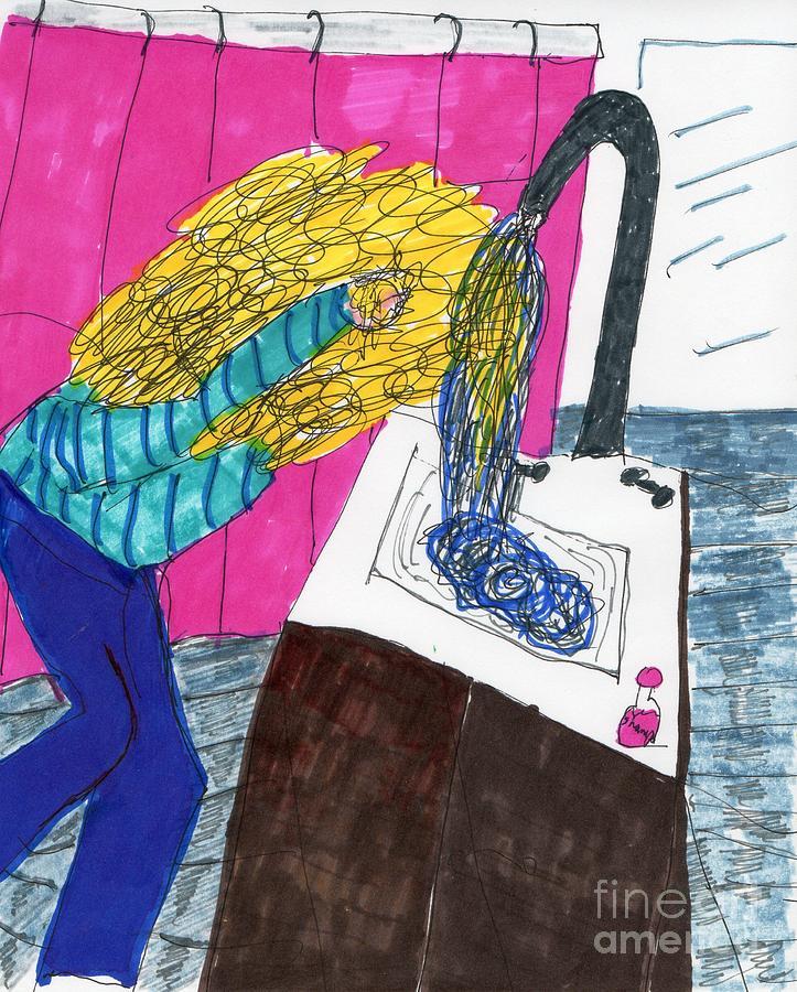 Hair Wash Mixed Media