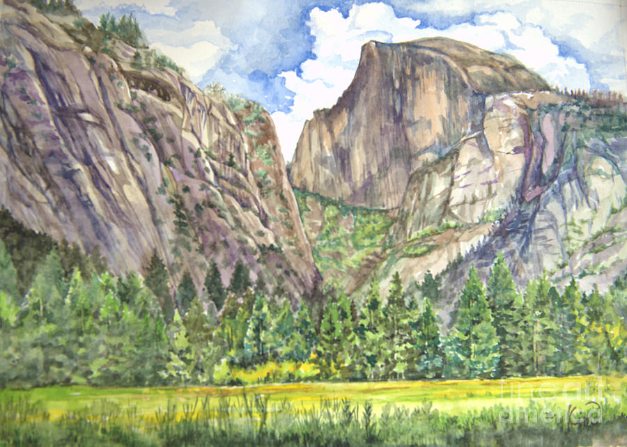 Half Dome In Spring Painting  - Half Dome In Spring Fine Art Print