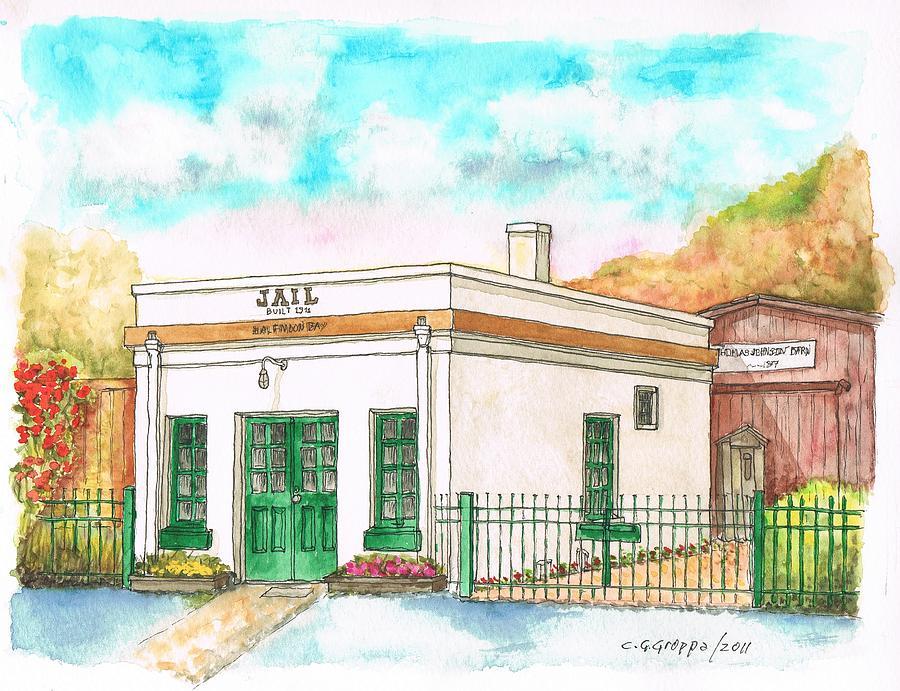 Half Moon Bay Jail And Barn - California Painting