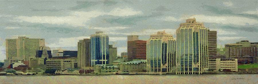 Halifax Painting - Halifax From The Harbour by Jeff Kolker