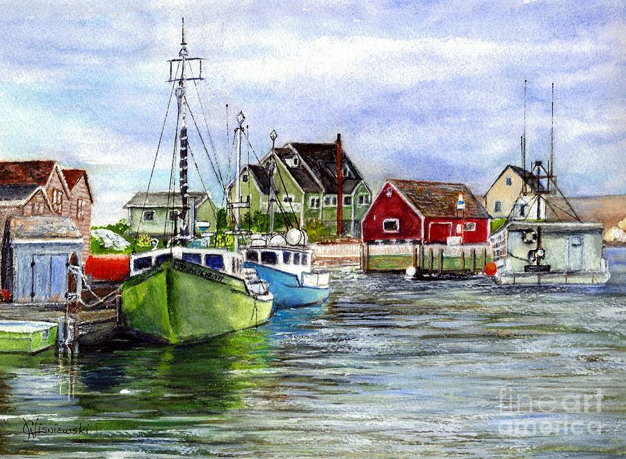 Halifax Nova Scotia Peggys Cove Painting