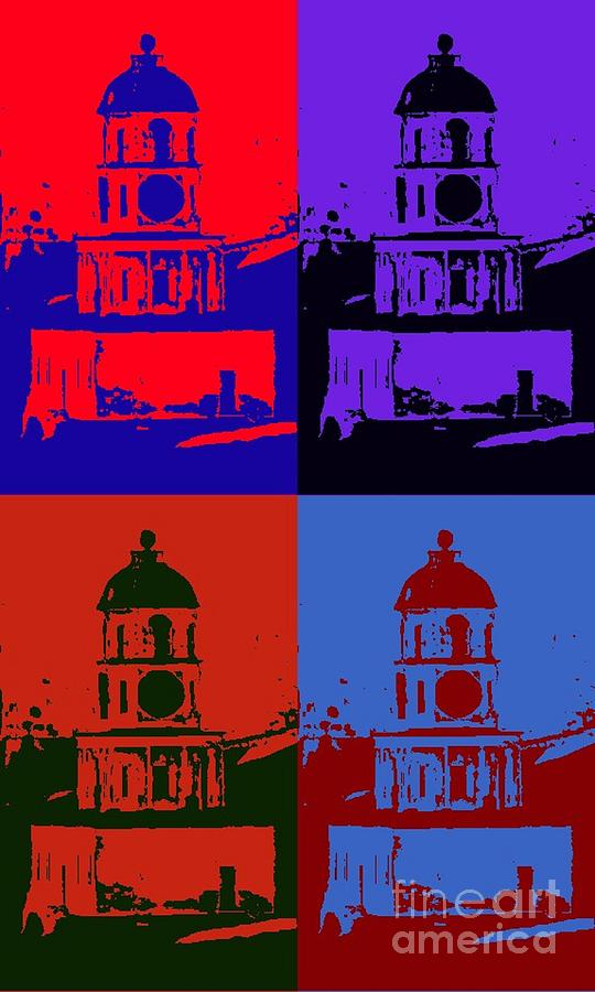 Halifax Town Clock Pop Art Poster Painting  - Halifax Town Clock Pop Art Poster Fine Art Print