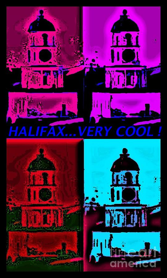 Halifax Very Cool Pop Art Digital Art  - Halifax Very Cool Pop Art Fine Art Print