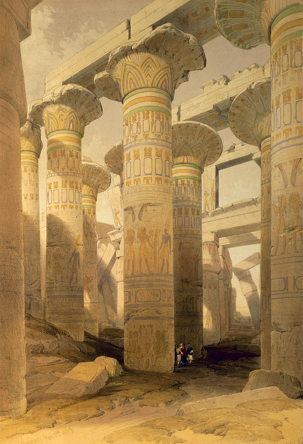 Hall Of Columns, Karnak, From Egypt Drawing