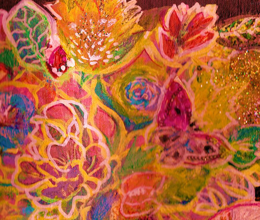 Hallelujah bright flowers painting by anne elizabeth whiteway for Bright flower painting