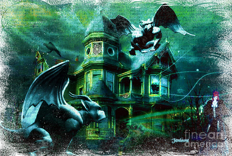 Halloween House Digital Art