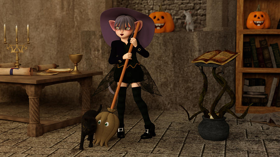 Halloween - The Life Of A Witch Digital Art