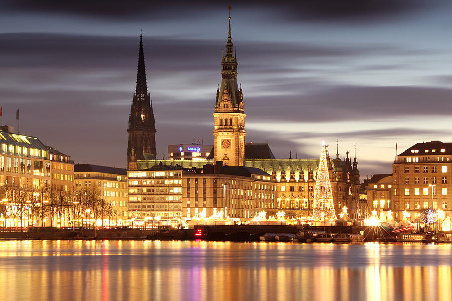 Hamburg Christmas Photograph  - Hamburg Christmas Fine Art Print