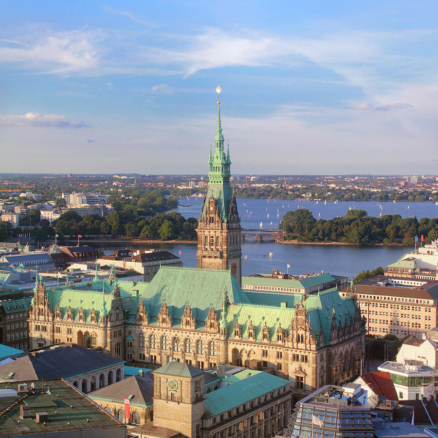 Hamburg City Hall Photograph