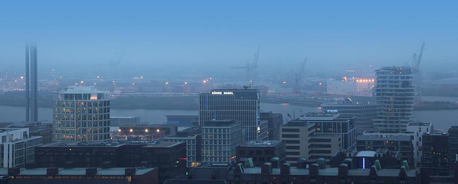 Hamburg Photograph - Hamburg Hafencity Panorama by Marc Huebner