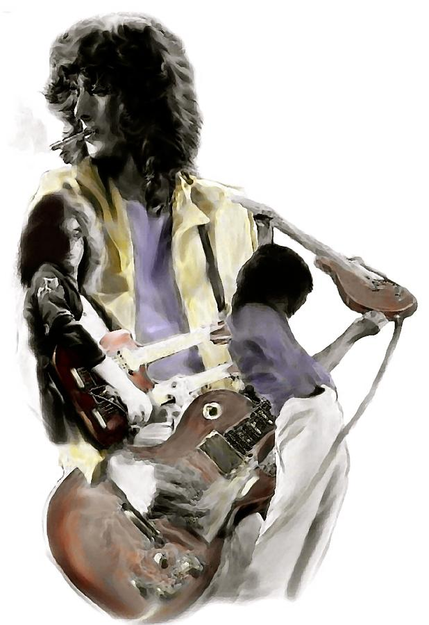 Hammer Of The Gods Jimmy Page Painting