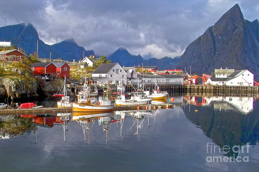 Hamnoy Fishing Village On Lofoten Islands Photograph By