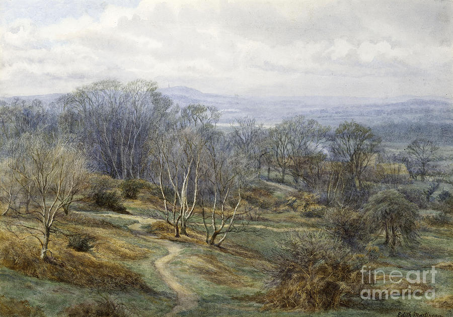 Hampstead Heath Looking Towards Harrow On The Hill Painting