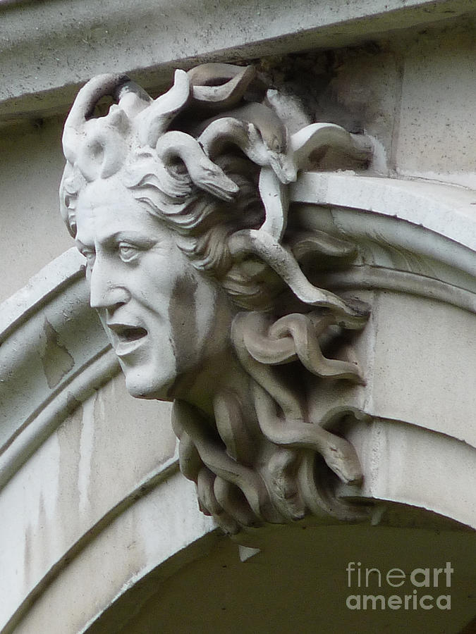 Hampton Court Palace Medusa Photograph  - Hampton Court Palace Medusa Fine Art Print