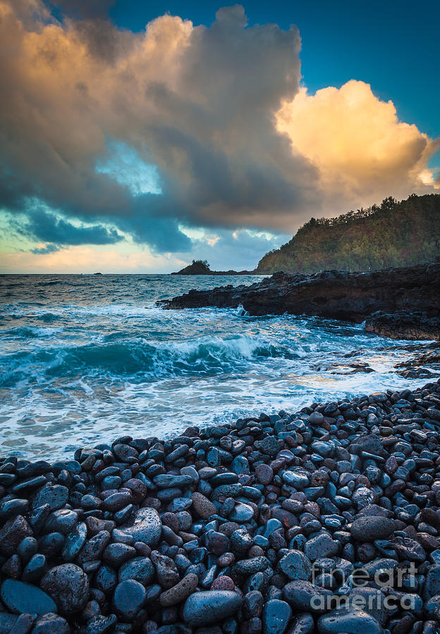 Hana Bay Pebble Beach Photograph  - Hana Bay Pebble Beach Fine Art Print