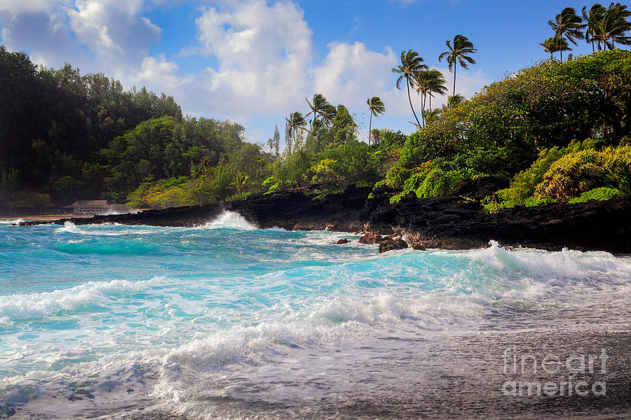 Hana Bay Waves Photograph  - Hana Bay Waves Fine Art Print
