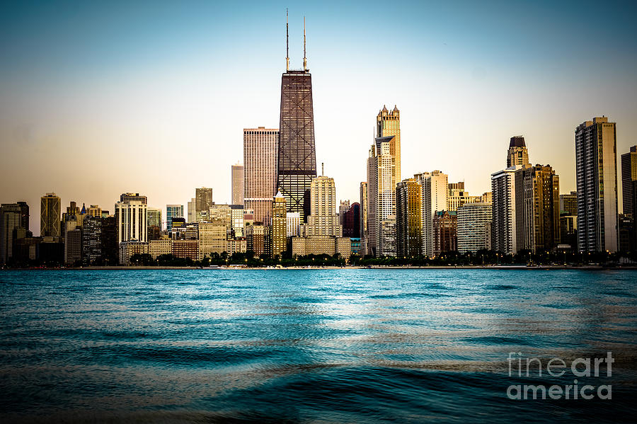 Hancock Building And Chicago Skyline Photo Photograph  - Hancock Building And Chicago Skyline Photo Fine Art Print