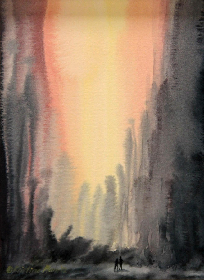 Abstract Painting - Hand In Hand by Kristine Plum