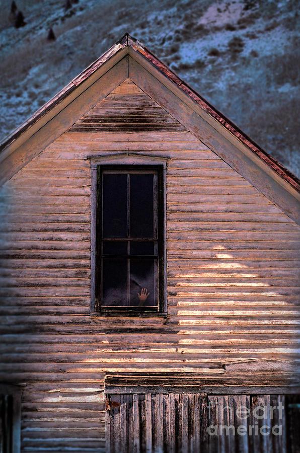 Hands Photograph - Hand In Window by Jill Battaglia