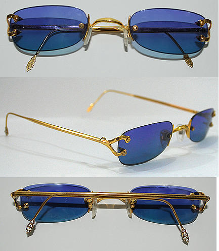 Hand Made Gold 18 Kt Eyeglasses Jewelry