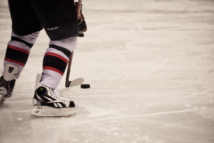 Ice Hockey Photograph - Handle It by Karol Livote