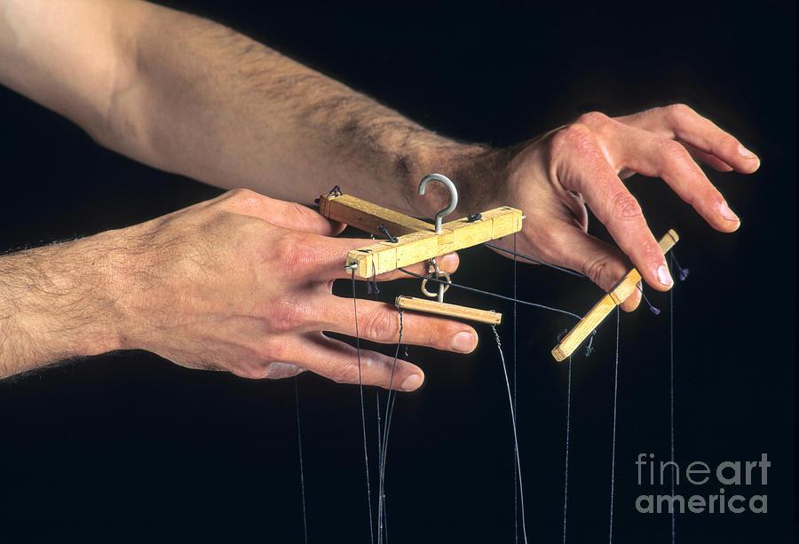 Hands Of A Puppeteer Photograph