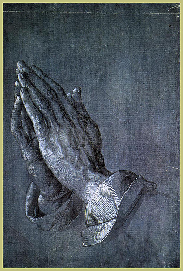 Hands Of An Apostle 1508 Drawing  - Hands Of An Apostle 1508 Fine Art Print