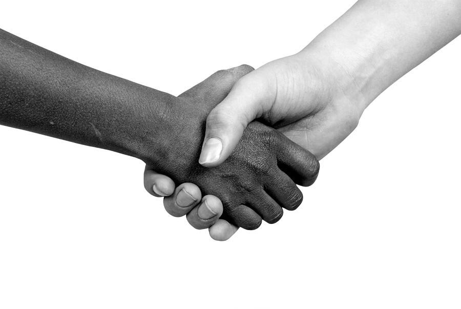 Handshake Black And White Handshake black and white