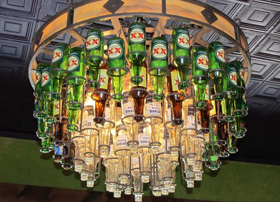 Hanging Beer Bottle Chandelier Photograph By Donna Wilson