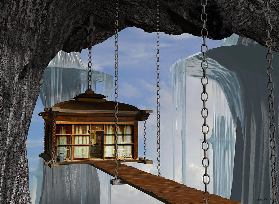 Hanging House Digital Art