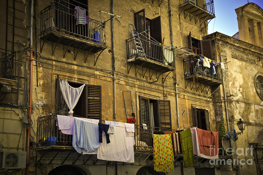 Hanging Out To Dry In Palermo  Photograph  - Hanging Out To Dry In Palermo  Fine Art Print