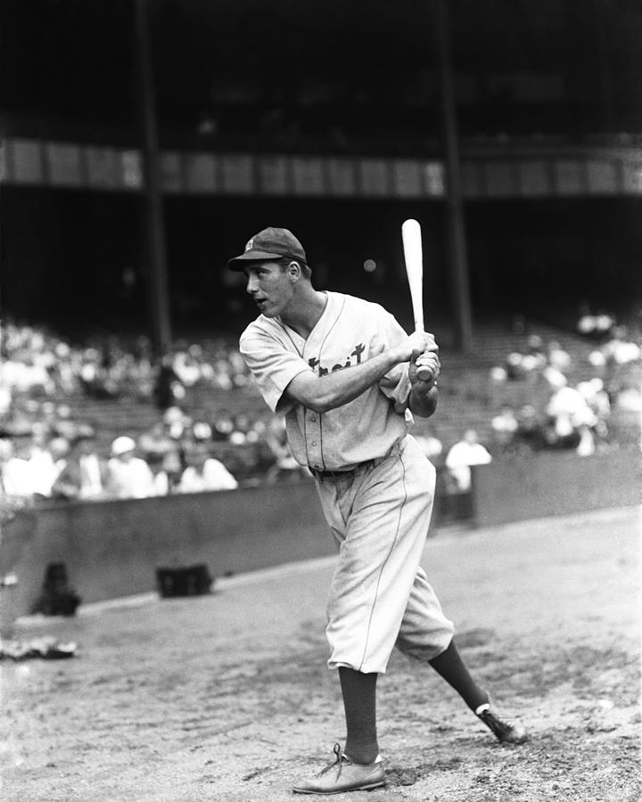 Hank Greenberg Pre Game Swinging Photograph