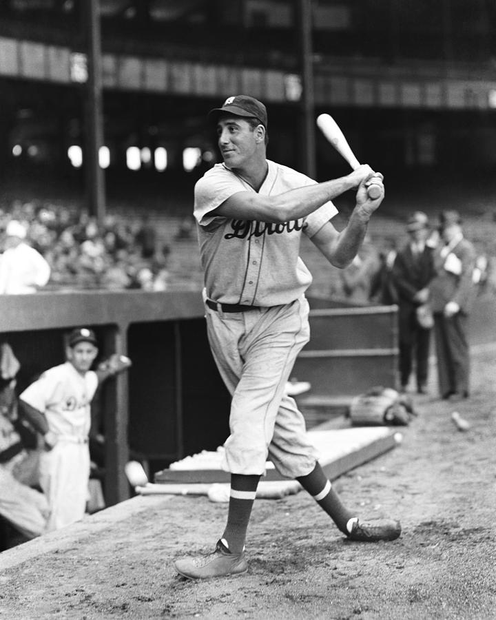 Retro Images Archive Photograph - Hank Greenberg Stance And Swing by Retro Images Archive