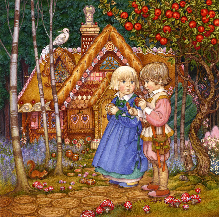 Hansel and gretel painting by carol lawson - Hansel home ...