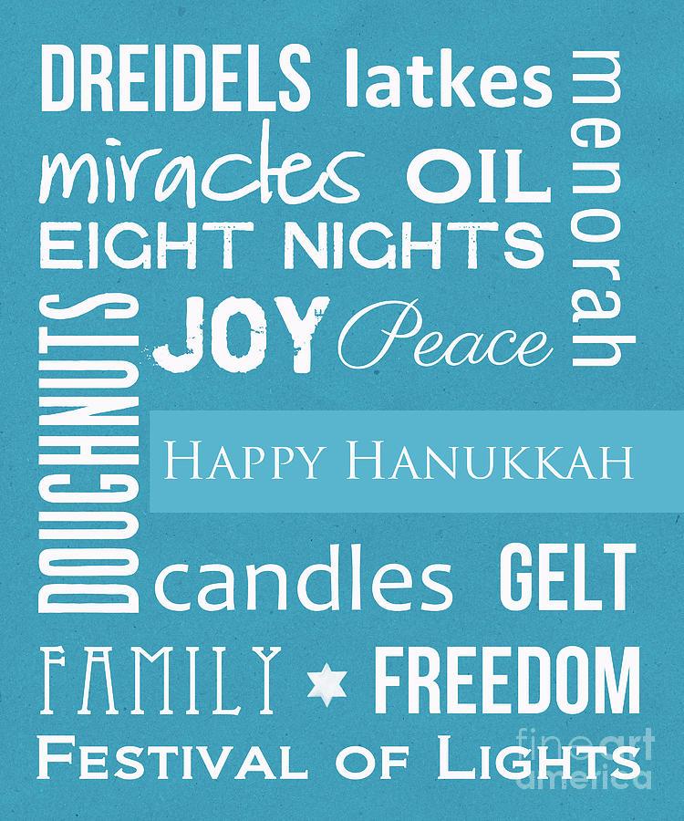Hanukkah Fun Mixed Media