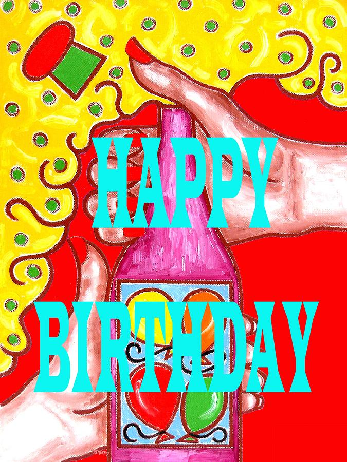 Happy Birthday 1 Painting  - Happy Birthday 1 Fine Art Print