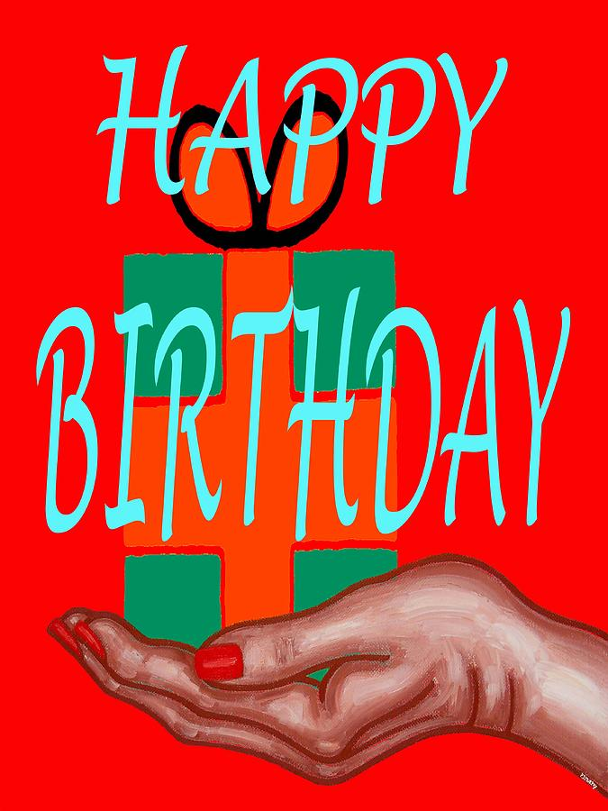 Happy Birthday 3 Painting  - Happy Birthday 3 Fine Art Print