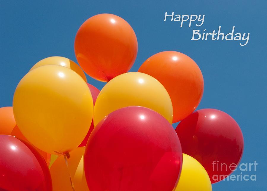 Happy Birthday Photograph - Happy Birthday Balloons by Ann Horn