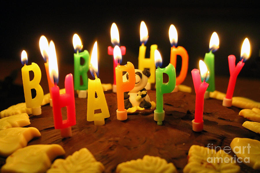 Happy Birthday Candles Photograph  - Happy Birthday Candles Fine Art Print