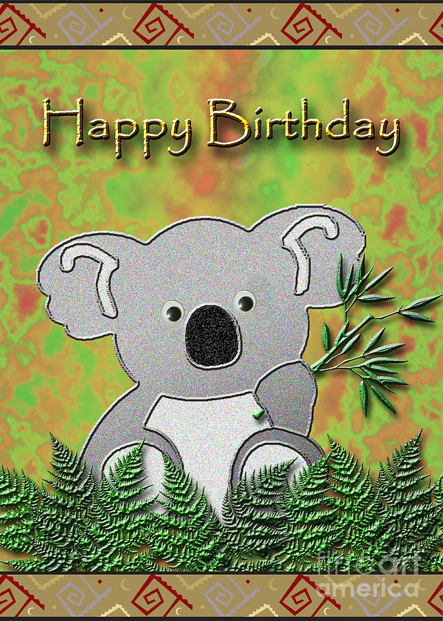 Happy Birthday Koala Bear Digital Art