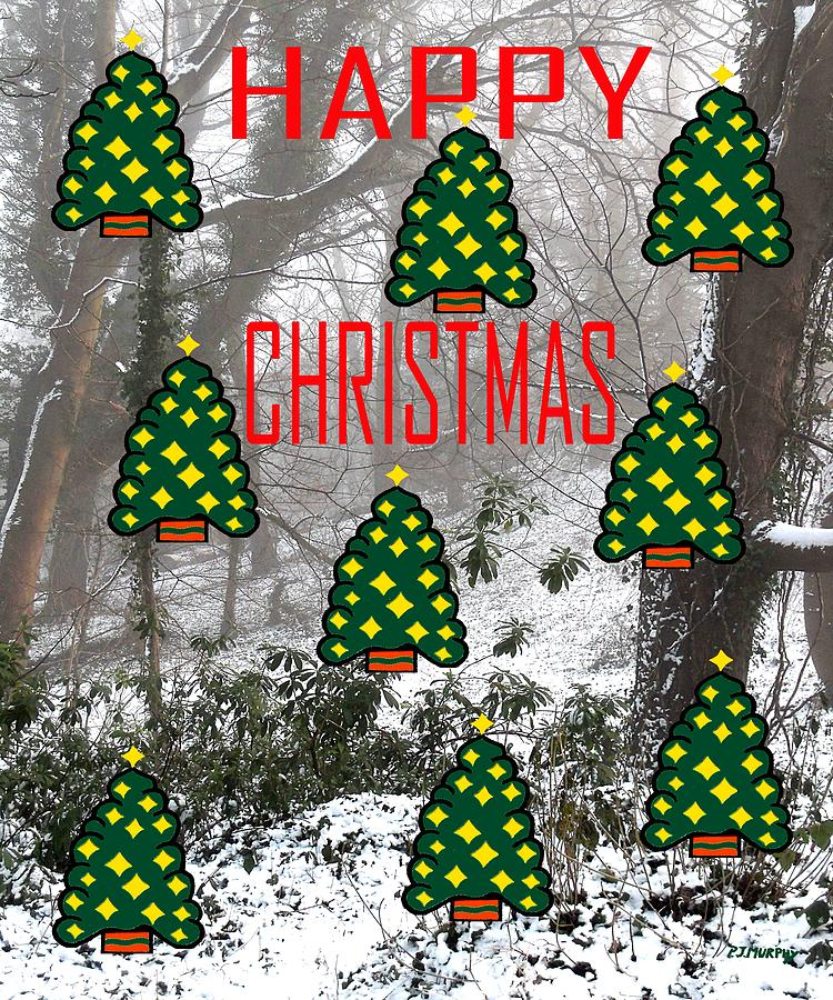 Happy Christmas 22 Painting  - Happy Christmas 22 Fine Art Print