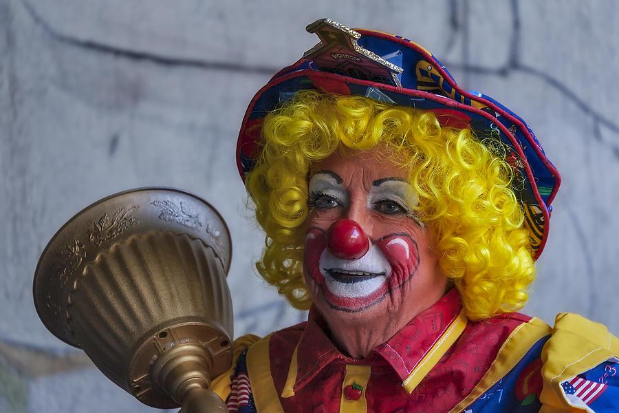 American Flag Photograph - Happy Clown by Susan Candelario