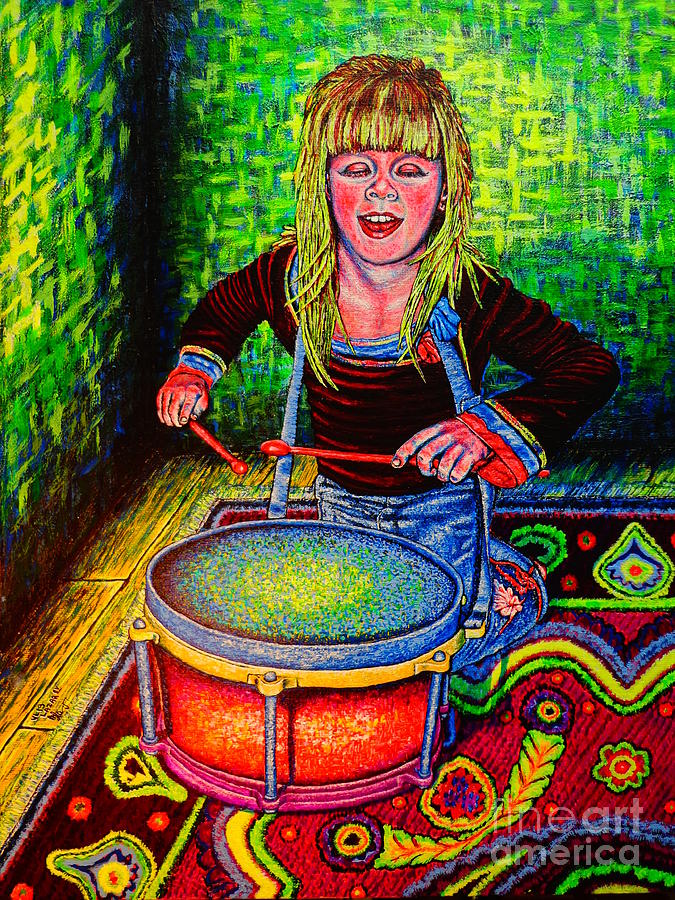 Happy Drummer Painting