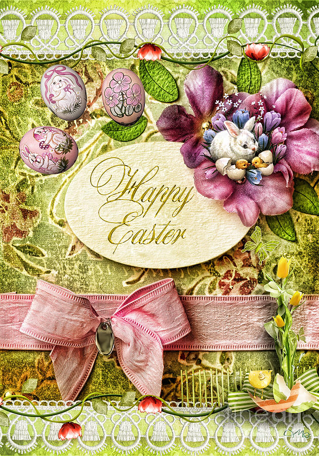 Happy Easter Digital Art - Happy Easter 2 by Mo T