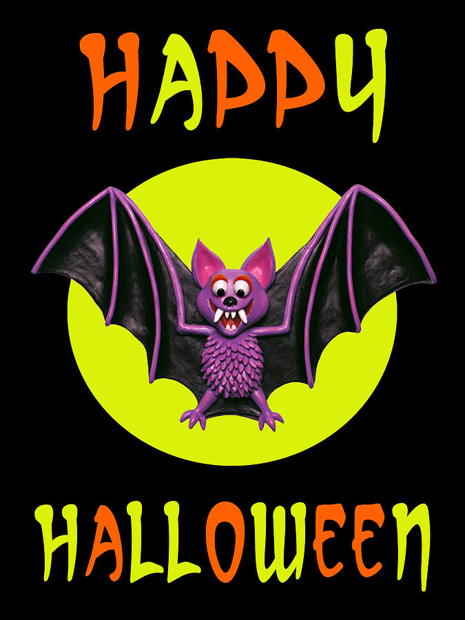 Happy Halloween Bat Digital Art