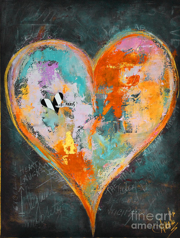 Happy Heart Abstracted Painting